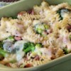 Ham and Broccoli Bake Recipe - You can come home on a cold day after work, and have this creamy pasta, ham, and broccoli casserole on the table in one hour. It's made with frozen broccoli, whole wheat rotini, cooked ham, and a jar of Alfredo sauce.