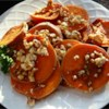 Sweet Potatoes With Feta Cheese Recipe - A new twist on a classic vegetable. Sweet potatoes don't have to be just for the holidays. This elegant dish has them topped with seasoned feta cheese and a balsamic drizzle.