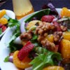 Strawberry and Mandarin Salad Recipe - This is a fresh summer-time salad that is inexpensive and easy to make. This salad can be made up the day before and is always a crowd pleaser.