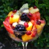 Tangy Poppy Seed Fruit Salad Recipe - Pineapple, orange, kiwi, grapes and strawberries tossed with a sweet, lime and poppy seed dressing.