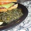 Southern Collard Greens Recipe - Leafy collard greens take a long, slow simmer in a ham hock bath, with flakes of hot pepper tossed in for kicks. Some folks like to shred the ham hock meat into the greens before serving up in bowls.
