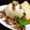 Praline Sundae Topping Recipe - This can be served warm or cold over ice cream. Store in refrigerator.