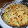Creamy Broccoli Casserole Recipe - Broccoli is smothered with melted cream cheese and baked between layers of crushed crackers.