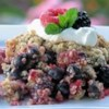 Triple Berry Crisp Recipe and Video - This is a wonderful berry crisp. I use a triple berry mixture of raspberries, blackberries, and blueberries, but just one works well too! My family loves it! Serve it with whipped cream and it looks great.