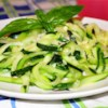Zucchini 'Noodles' Recipe and Video - The versatile and abundant zucchini becomes a noodle in this gluten-free dish.