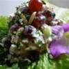 Becky's Chicken Salad Recipe and Video - Whipped cream gives this chicken salad a lift. Green grapes and crunchy almonds add sweetness and texture to this creamy chicken salad.