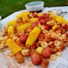Dave's Low Country Boil Recipe and Video - Famous in the Low Country of Georgia and South Carolina. This boil is done best on an outdoor cooker. It has sausage, shrimp, crab, potatoes and corn for an all-in-one pot all-you-can-eat buffet!