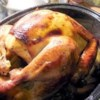Maple Roast Turkey and Gravy Recipe - A New England style turkey with maple syrup. Try stuffing it with Cranberry, Sausage and Apple Stuffing. If you have fresh marjoram on hand, use 2 tablespoons rather than the 1/2 teaspoon dried. For an added zing of taste, two tablespoons of apple brandy can be added.  If you don't have fresh thyme, substitute 1/2 teaspoon dried thyme. Originally submitted to ThanksgivingRecipe.com.
