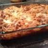 The Best Spaghetti Casserole Recipe - Fat free sour cream adds a smooth richness to this beefy spaghetti casserole.