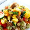 Pasta Primavera with Italian Turkey Sausage Recipe - A delicious dish created from the fresh bounty of my garden. My whole family has seconds when we have this meal!