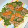 Orange Vinaigrette Brown Rice Salad Recipe - A lovely, orange and honey-infused vinaigrette dressing is poured over just-cooked brown rice and then chilled. Before serving, chopped spinach, diced oranges, and slivers of red onion are stirred in. Oriental Green Been Salad