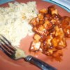 Marinated Tofu Recipe - Tofu, simply marinated in barbeque sauce then browned in a skillet, goes great with vegetables or in a salad with your favorite salad dressing.