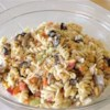 Chicken Pasta Salad II Recipe - This is a super easy but wonderfully tasty salad recipe I picked up years ago which has become a summer tradition with my family!  The ingredients and proportions are adjustable to personal preference. For added flavor, you can boil the pasta in a mixture of 1 part water and 1 part chicken broth.