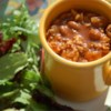 Cabbage Beef Soup Recipe - Slow-cooker soup with ground beef, cabbage, kidney beans, and tomatoes. Great for a crowd, or to be enjoyed again as leftovers. Makes a lot!