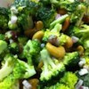 Broccoli Cashew Salad Recipe - The classic broccoli salad is made with with red onion, bacon and cashews. This is perfect for a party or potluck.