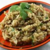 Fresh Mushroom Rice Pilaf  Recipe - Rice flavored with onion, mushrooms, and chicken bouillon is the perfect side dish to any meal.