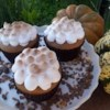 Sweet Potato Cupcakes with Toasted Marshmallow Frosting Recipe - These spiced fall cupcakes are a riff on the classic Thanksgiving casserole.