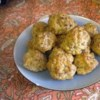 Bisquick(R) Sausage Balls Recipe - Sage and hot sausage are combined with sharp Cheddar cheese and baking mix for a savory meatball perfect for party appetizers.