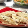 Chicken in Tarragon Cream Sauce Recipe - Shallots, garlic and lemon pepper season tender chicken breasts in a tarragon-scented cream sauce featuring Swanson(R) Chicken Broth.