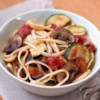 Tuscan Pasta Recipe and Video - Fresh garden vegetables and pasta are tossed with a chunky tomato sauce with zesty herbs to create a healthy feast that's low on salt and fat and high on flavor.