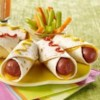 Hot Dog Roll Up Recipe - Cheesy and easy. This two-minute lunch idea is so simple, your kids can make them.