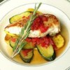 Chicken and Summer Squash Recipe - Straight from the garden and into the fry pan, this medley of fresh zucchini, yellow squash and tomato makes a vibrant accompaniment to sauteed chicken.
