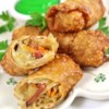 Irish Egg Rolls Recipe and Video - Use up those corned beef and cabbage leftovers in these delicious egg rolls!