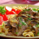 Healthy Recipes with Beef & Mushrooms Slideshow - Perfect ingredient pairings don't always have to rely on opposites. Take the marriage of beef and mushrooms for example. Both healthy ingredients have a rich, savory flavor that tastes even better together. These healthy recipes with beef and mushrooms are packed with flavor and will make a delicious dinner. Try our Braised Beef & Mushrooms for a satisfying and filling supper or EatingWell Sloppy Joes for a kid-friendly recipe with beef and mushrooms.