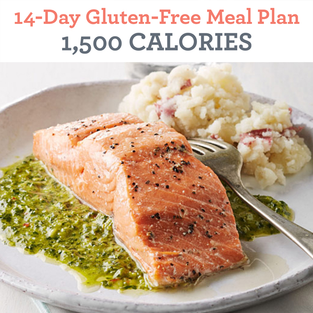 14-Day Gluten-Free Meal Plan: 1,500 Calories - EatingWell