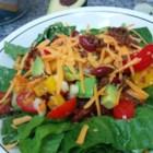 Taco Salad with Lime Vinegar Dressing