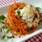 Spaghetti and Meatballs Muffin Bites