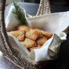 Crispy Rosemary Sea Salt Flatbread Crackers