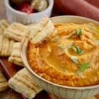 Healthy Halloween Roasted Red Pepper Hummus