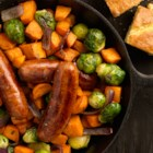 Smoky Skillet with Brussels Sprouts & Sweet Potato