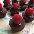 Mini Dessert Brownies with Raspberries