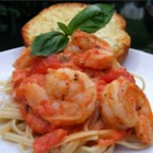 Linguine Pasta with Shrimp and Tomatoes