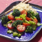 Broccoli & Tomatoes with Rice Wine-Oyster Sauce