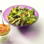Spring Green Salad with Rouille Dressing