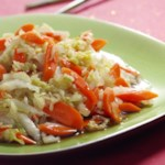 Napa Cabbage & Carrots with Rice Wine-Oyster Sauce