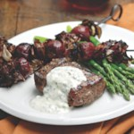 Grilled Buffalo Steak with Radicchio-Beet Skewers