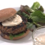 Asian Turkey Burgers with Sesame Mayonnaise