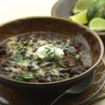 Slow-Cooker Black Bean-Mushroom Chili