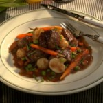 Braised Lamb with a Garden-Vegetable Medley