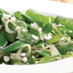 Watercress & Sugar Snap Salad with Warm Sesame-Shallot Vinaigrette