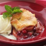 Gingered Cranberry-Pear Cobbler