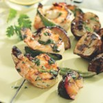 Shrimp & Plum Kebabs