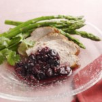 Roasted Pork Tenderloin with Cherry & Tomato Chutney
