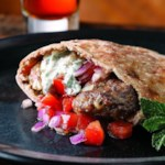Turkish Lamb Pita Burgers