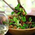 Baby Beet Greens with Spicy Mediterranean Vinaigrette