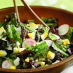 Mixed Lettuce Salad with Cucumber Herb Vinaigrette